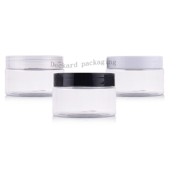 100g X 50 chiare vuote plastica crema contenitori barattoli con tappi a vite, contenitori deodorante imballaggio cosmetico bottiglia di plastica latta