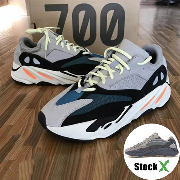 Adidas yeezy 700 Runner 2019 Nova Kanye West Onda Mauve Mens Mulheres Athletic Melhor Qualidade 700 s Sports Running Sneakers Sapatos De Grife Com Caixa