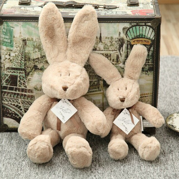Plush Rabbit Doll Toy Send Girl Gifts Brown Customizable Pillow Exquisite Lovely Manual Ragdoll Plush Big Ear 1