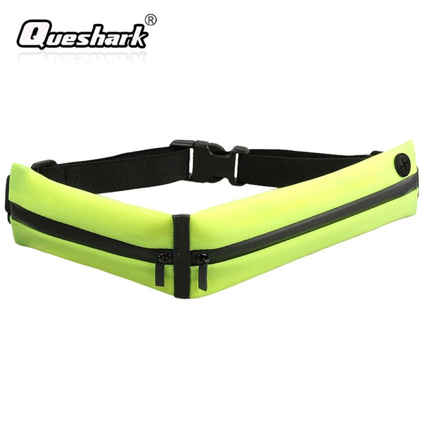 6.2 inch Mobile Phone Double Packs Waterproof Running Waist Bag Invisible Belt Pouch Reflective Strap Night Warning Fitness Bags