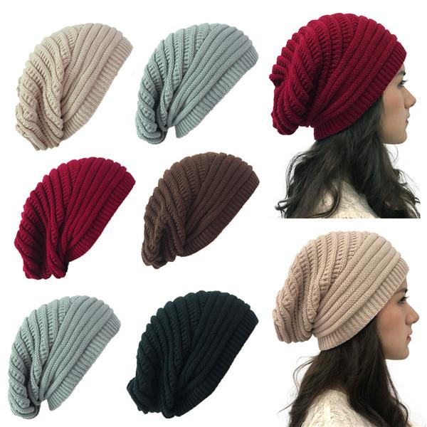 Winter Women Men Knit Ski Crochet Slouch Hat Cap Beanie Hip-Hop Warm Hats Yc