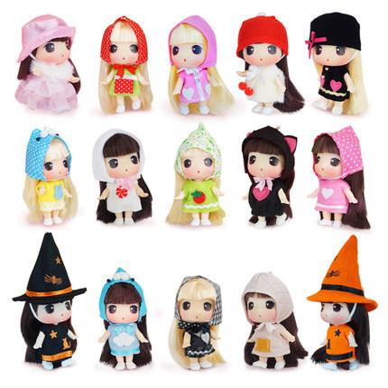 Children's cartoon confused enamel dolls girls change doll toys 12 each suite suitable for doll enthusiasts over 5 years old