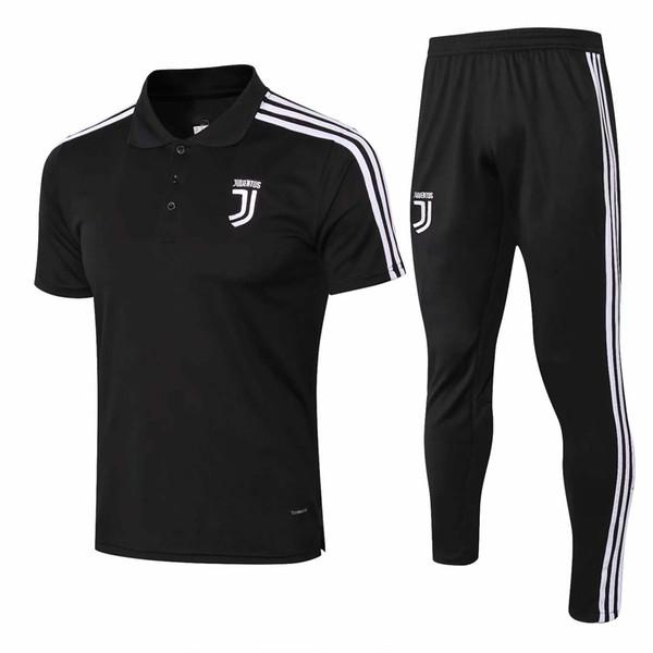 Großhandel neue RONALDO Fußball Polo Shirt Juv Kurzarm Trainingsanzug HIGUAIN DYBALA MANDZUKIC Trainingsanzug Messi Fußball Uniform