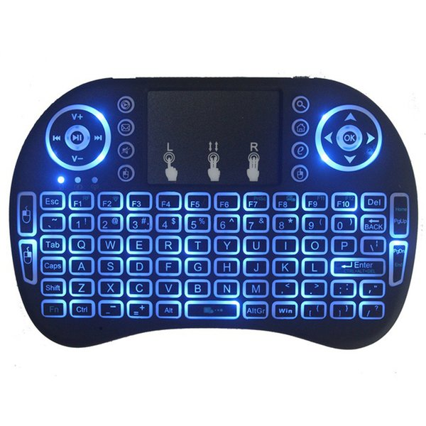 top popular Mini Rii i8 Wireless Keyboard 2.4G English Air Keyboard Without LOGO Remote Control Touchpad for Smart Android TV Box Tablet Pc 2021