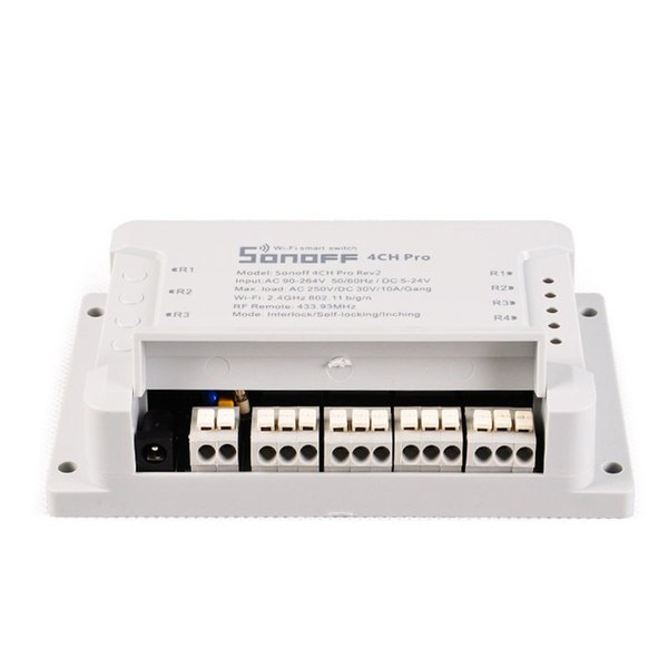 Original SONOFF 4CH Pro R2 Interruptor WIFI de múltiples canales inalámbrico para Smart House Home Automation Module Controller 433mHz Control remoto 1 unids