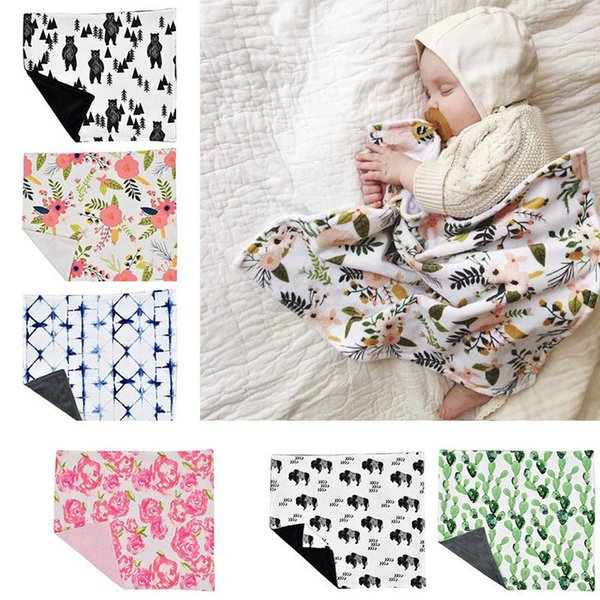 Baby Swaddle Blanket Newborn Infant Photography Wrap Bear Animal Blankets Kids Bedding Mat for Kids Sleeping appease Supplies dc241