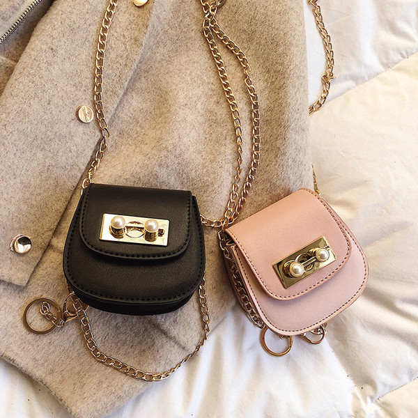 1Mini- Small Bag 2019 Small Ck Metal Chain Small Change Package Semi-circle Saddle Package Lady Handbags