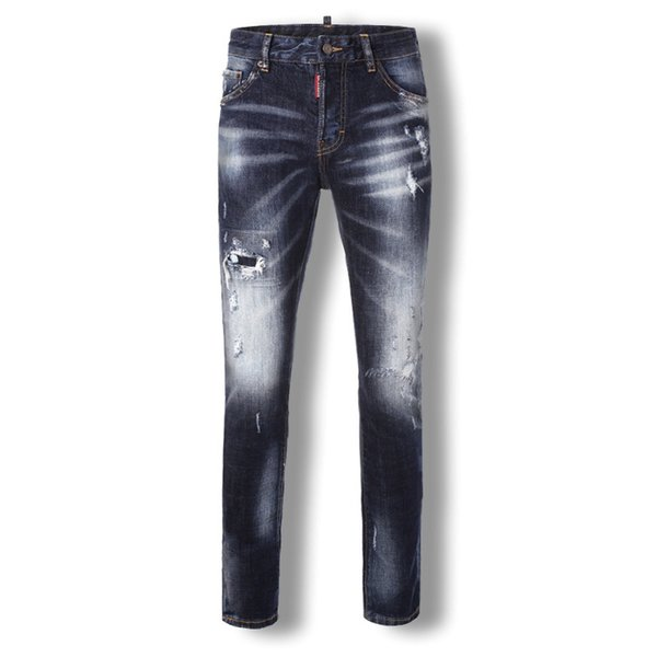 Men's Jeans Slim Hole Small Straight Casual Comfortable Long Pants Skinny Jeans Men Clothes 2018 Ripped for Men Hip Hop