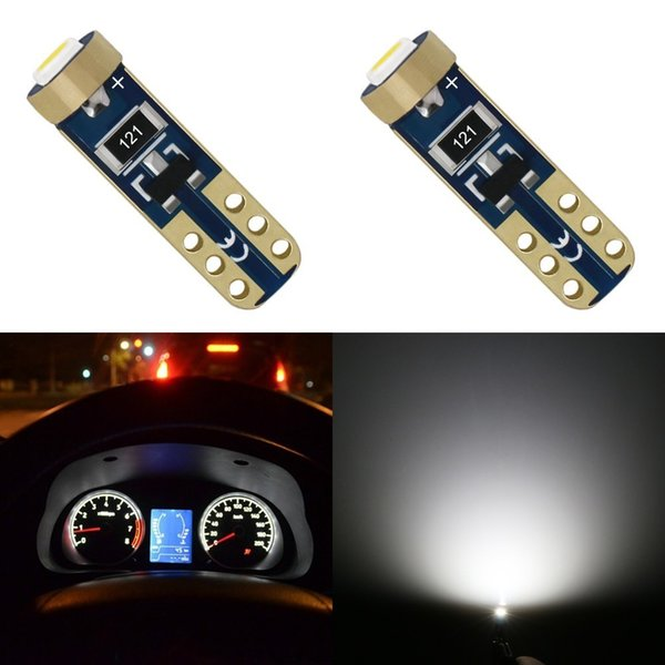 10Pcs T5 12V Wedge LED Light Car Dashboard DASH Lamp Bulb Style Pretty
