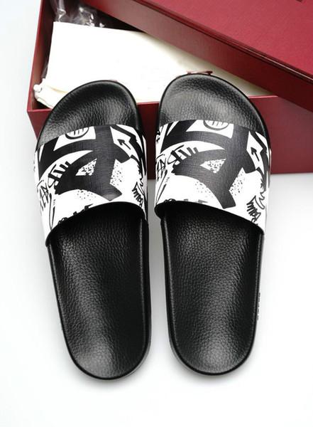 2019 moda erkek ayakkabıları yeni terlik moda rahat konfor vahşi DHL ücretsiz teslimat boyutu 38-46