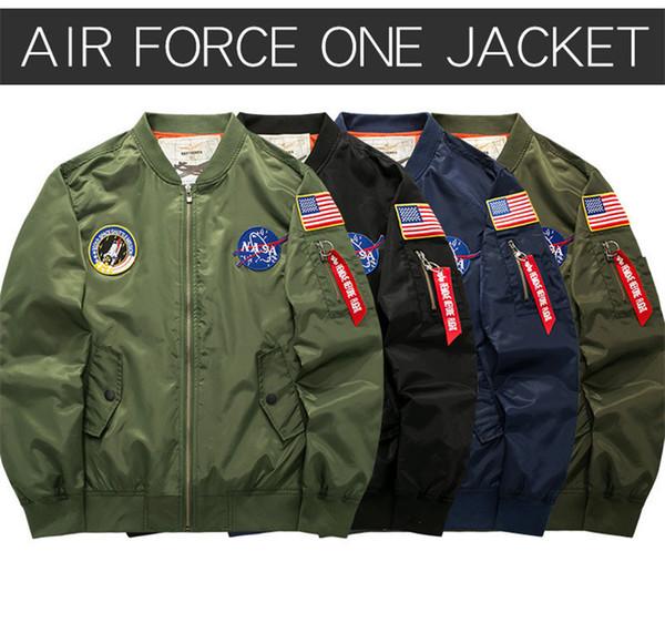 Zarte Stickerei NASA Mann Jacken Designer Band Baseballuniform Mode Reißverschluss und Tasche schmücken Jacke WL