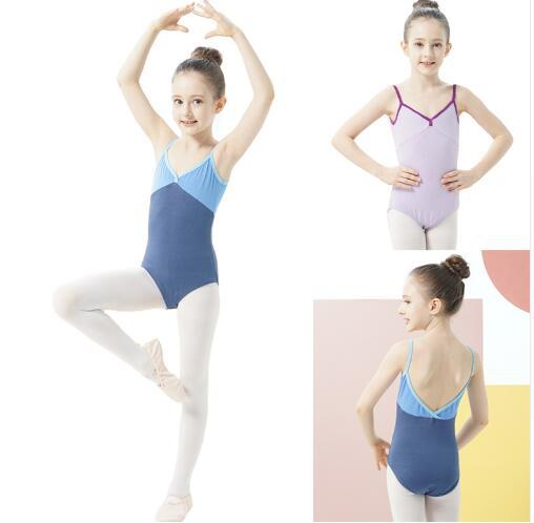 Ballet Dance Leotard Vest Girls 2019 New Summer Daily Practice Gymnastics Children Cheap Ballet Group Dancing Dress