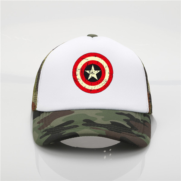 Captain America Shield Photo Print Baseball Cap Fashion Men's Summer Sun Hat Ms. Outdoor Hip Hop Cap