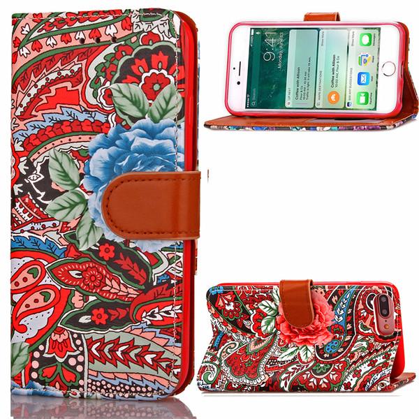 Etuis en cuir pour téléphone portable pour iPhone 7 8 PLUS iPhone 7 8 pochette de téléphone portable pochette créative insérer carte couvre la pochette de carte