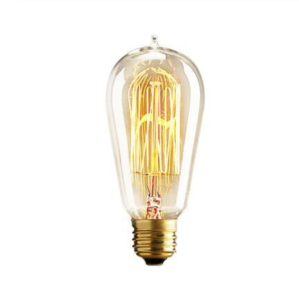Rétro Edison Ampoules E27 25W 40W 60W ST64 230V Ampoule à incandescence ampoule à filament Vintage Edison lumière pour lampe suspendue Fot Cafe Shop