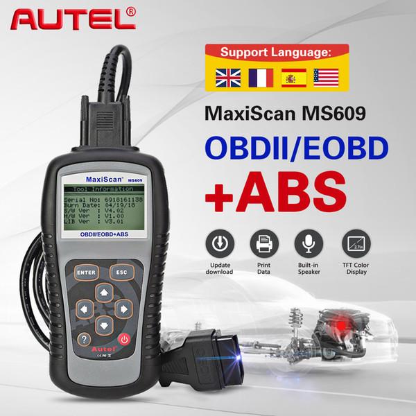 AUTEL MaxiScan MS609 Car OBD2 Scanner Leitor de Código Funções OBD2 Completas Auto Scanner de Diagnóstico Ferramenta OBDII ABS Ferramentas de Teste