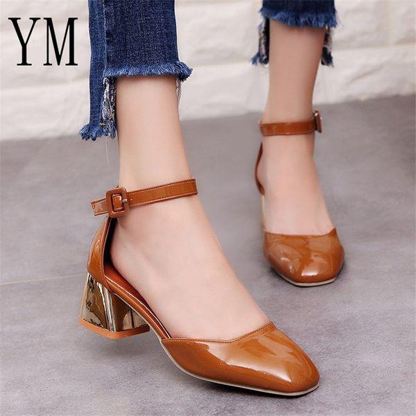 Correa Cm Tacón Bombas Tobillo De Grueso Zapatos 5 Mujeres Compre Awq4YPx
