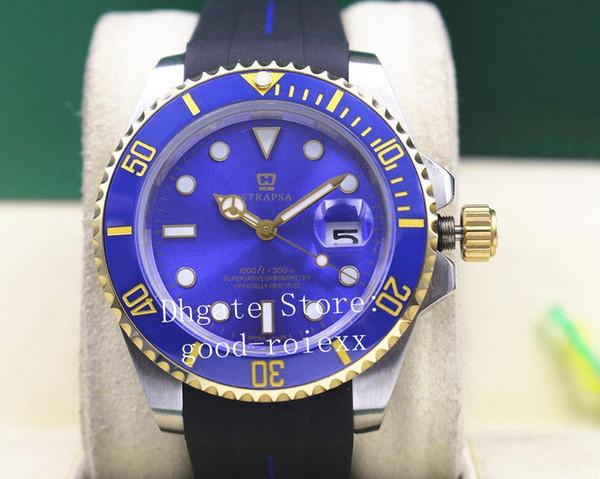 Reloj automático para hombre 2813 Hombres Zafiro Azul Cerámica Buceo Superlativo Sub 116613 Oro Caucho B Correa Relojes deportivos 116618 Relojes para hombres