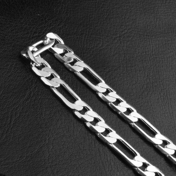 Pulsera de plata al por mayor, 925 pulsera plateada de plata de la cadena del vínculo de la joyería 6m m de la manera