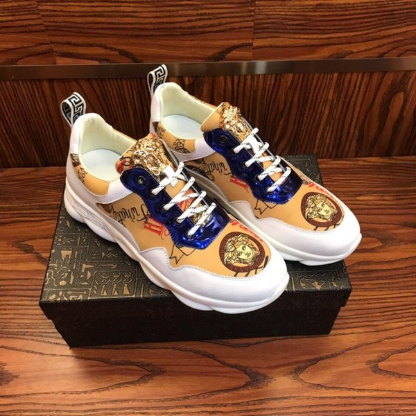 2019Z nuevos zapatos deportivos de lujo transpirables para hombres zapatos para correr para hombres zapatos casuales para hombres salvajes de moda caja original factura de embalaje
