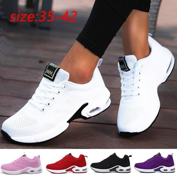 Womens Slip On Sneakers Trainers Ladies Mesh Breathable Sport Loafers Shoes Size
