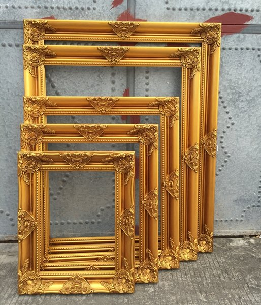 gold mirror wall decor.htm 2019 european retro style solid wood picture frame wedding photo  2019 european retro style solid wood