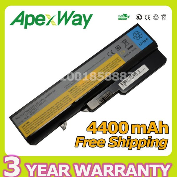Apexway 11.1V Laptop battery for Lenovo L09S6Y02 LO9L6Y02 for IdeaPad G460 G465 G470 G475 G560 G565 G570 G575 G770 Z460