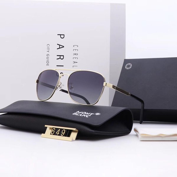 New Arrive Mens Designer Sunglasses Luxury Sunglasses Brand Adumbral Polorized Goggle 5 Colors Glasses UV400 649 High Quality with Box