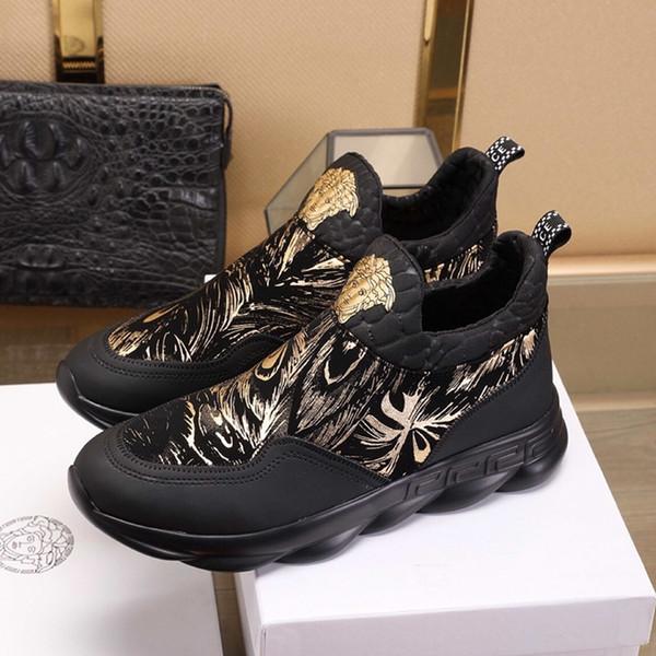 Kutu ücretsiz kargo ile Dana derisi Deri Sneaker Casual ayakkabılar moda Patik basketbol ayakkabıları ile Hava g8 Fransız marka erkek Lüks ayakkabılar