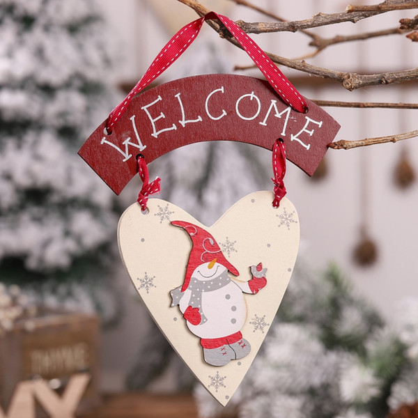 Рождество Деревянный Висячий Знак Декор Для Дома Стены Двери Окна Древесины Добро Пожаловать Знак Висячие Украшения Xmas Tree Украшения