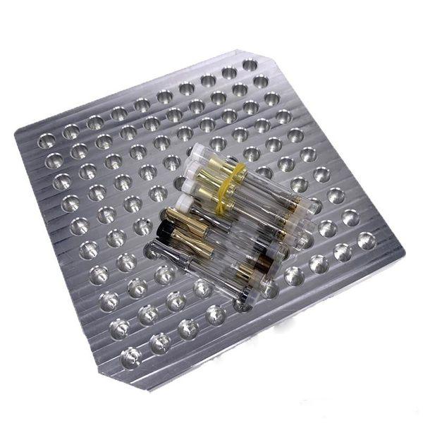 Alluminio Vape Vassoio 100 fori Display Vaporizzatore Stand Show Scaffale per G2 92A3 CE3 mt6 Cartucce in ceramica Atomizzatore Ecigs Vape Supporto per mensola