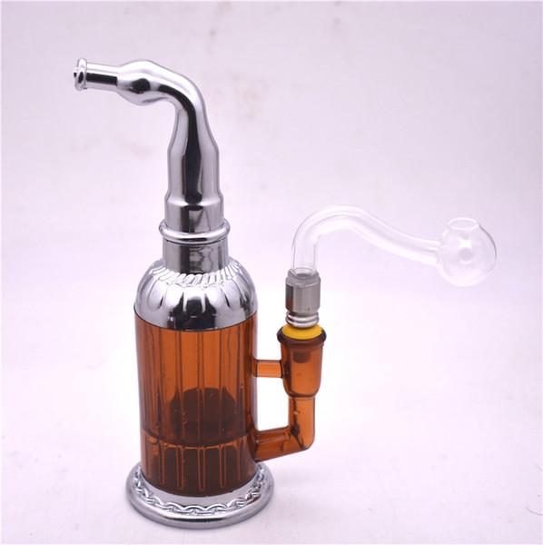 Pipa ad acqua Arcylic di alta qualità Bong Bicchiere da acqua infrangibile Bong Tappi per olio a nido d'ape con tubo per bruciatore a olio in vetro da 10 mm o ciotola per tabacco