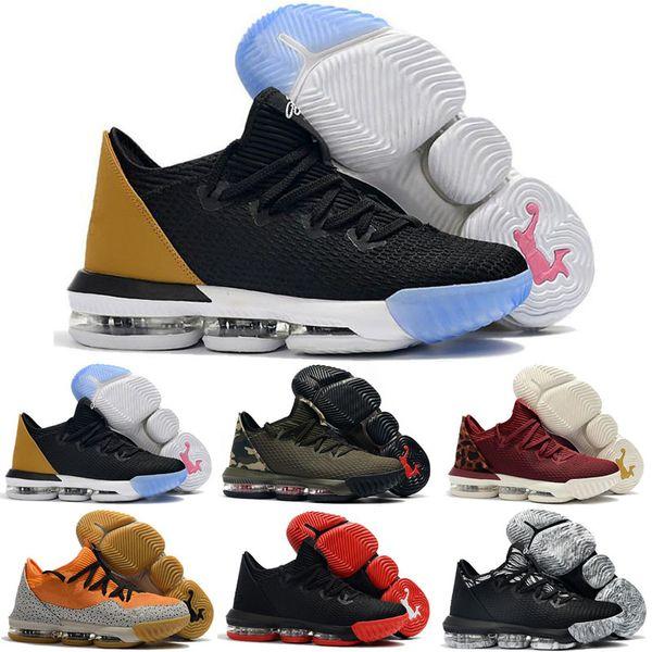 2019 New Lebron 16 Chaussures de basket-ball pour enfants, 16 The Fresh Bred Triple Noir Blanc, chaussures de sport, 16s, baskets, designer de sport, baskets