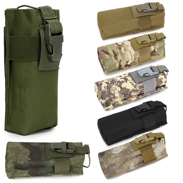 Outdoor Military Tactical Airsoft Paintball Hunting Molle Radio Walkie Talkie Pouch Sports Water Bottle Canteen Bag #912703