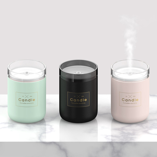Candle Purifier Spray Humidifier Light Luxury Air Treater Home Furnishing Decorate USB Quiet And Comfortable Ambient Lighting New 36bg