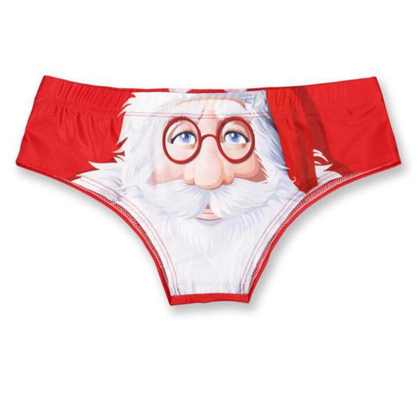 New Arrival Christmas Women Santa Claus 3D Print Red Underwear Clothes Funny Female Lingerie Girls Panties Women Underwear