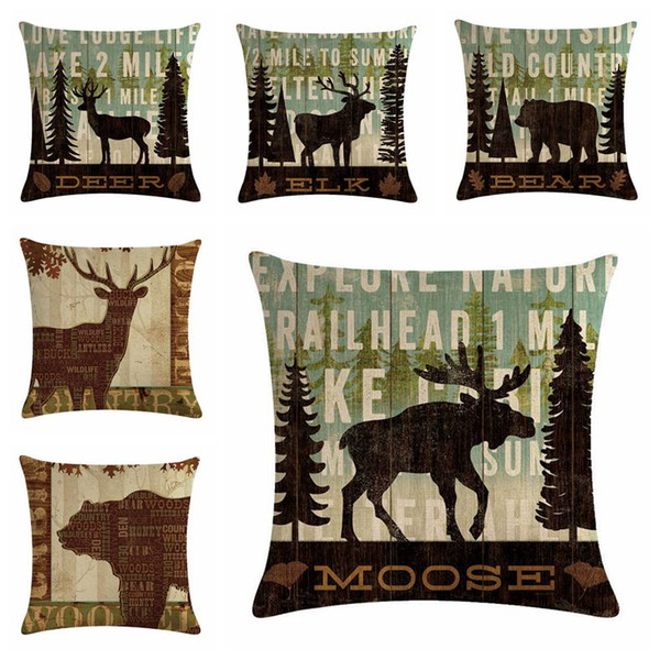 Incredible Nordic Animal Cushion Cover Moose Sofa Chaise Lounge Throw Pillow Case Beak Elk Shabby Chic Home Decor Cojines Discount Patio Chair Cushions Buy Andrewgaddart Wooden Chair Designs For Living Room Andrewgaddartcom