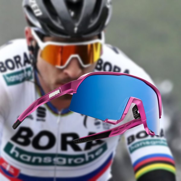 Sss333 100 occhiali 2019 nuovi occhiali da ciclismo PRO Occhiali da ciclismo 3 lenti Outdoor Bike Occhiali da bici Sport