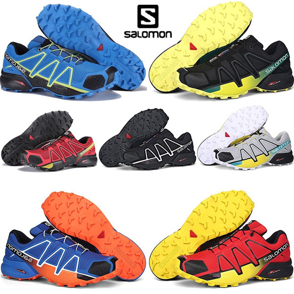 2020 Solomon Speed Cross 4s Trainer SPEEDCROSS PRO Fencing Running Shoes Triple Black Blue Athletic Designer Sports Sneakers Mens Trainers