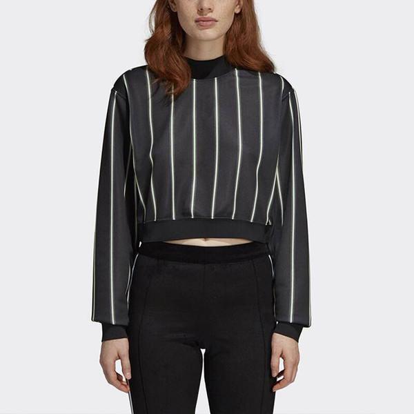 Sports Designer Tshirt pour Femmes Style Court Rayé À Manches Longues Sexy Club Night Blouse Marque Motif
