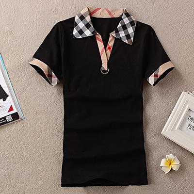 Bayan İngiltere Tasarımcı Gömlek Yaz Marka T-Shirt Kadın Rahat Tarzı Üstleri T-shirt Pamuk Kısa Kollu Tişört