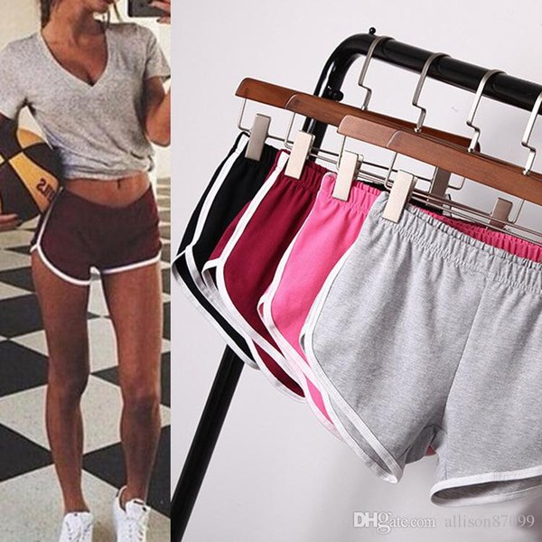 2019 Womens Clothing Mini Shorts Multi Colors Sports Running Yoga Beach Short Piping Homewear Active Gym Casual Elastic Girls Short Clothing From
