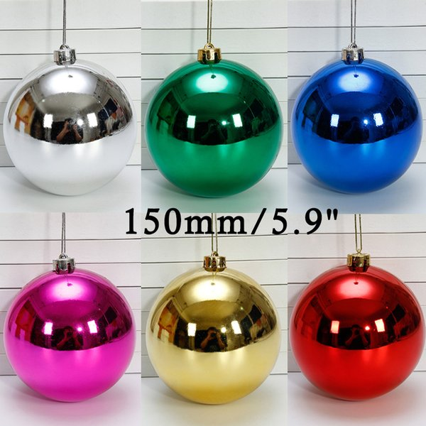 """Christmas Ball Ornaments 5.9"""" Larger Christmas Decorations Hanging Balls for Holiday Wedding Party Decoration Tree Ornaments (150mm Red)"""