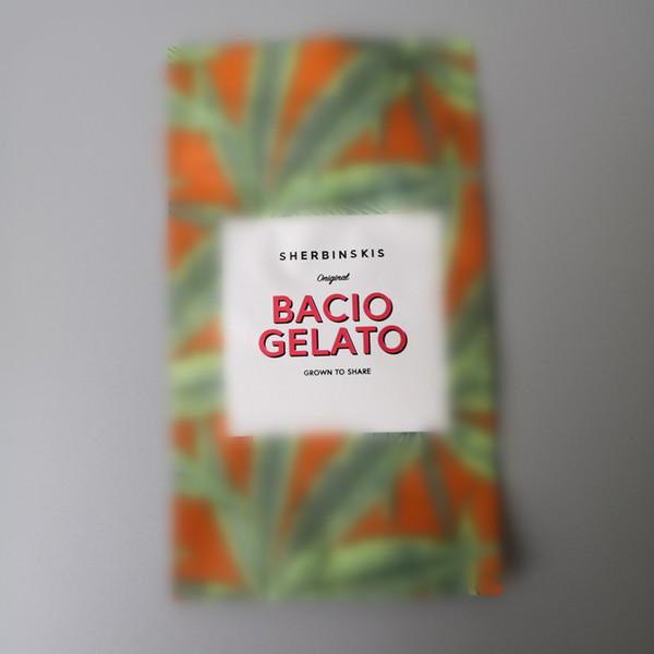 Bacio Gelato mylar bag