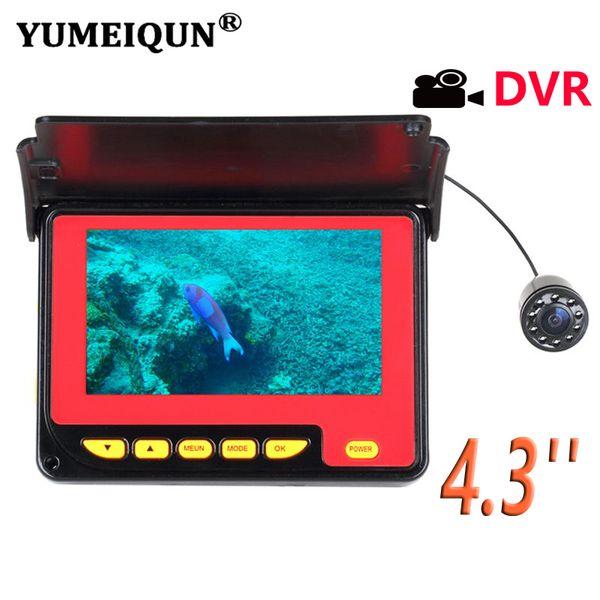 YUMEIQUN 4.3 Inch Underwater Fish Finder Camera 20M 1000TVL Fishing Camera Waterproof 8pcs IR Lamp Video Recording Function