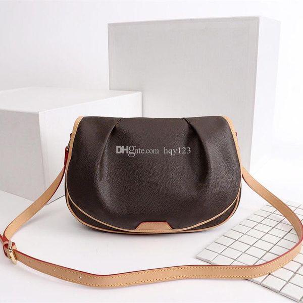Luxury bag Fashion alphabet pattern women designer Saddle bag High quality canvas mini handbag Size 29/21/10cm Model m40474