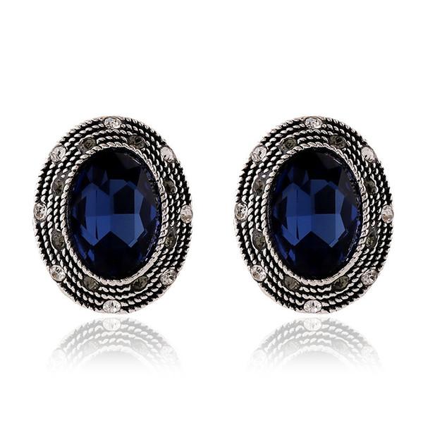 Ear Nail Retro Diamond Insert Crystal Female Alloy Ear Clip Electricity Supplier Accessories