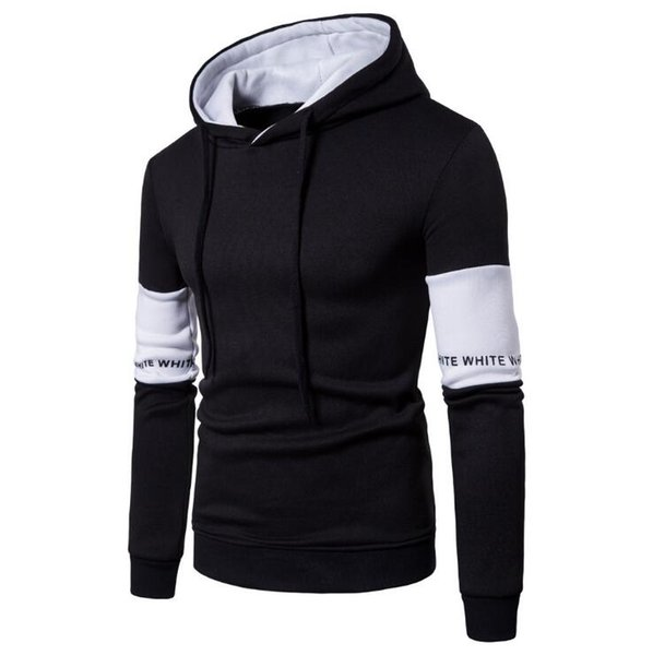 Spring and Autumn Men's Leisure Cap Jacket Fashion Sleeves Stitching Sleeves Colour-bumping Sanitary Clothes