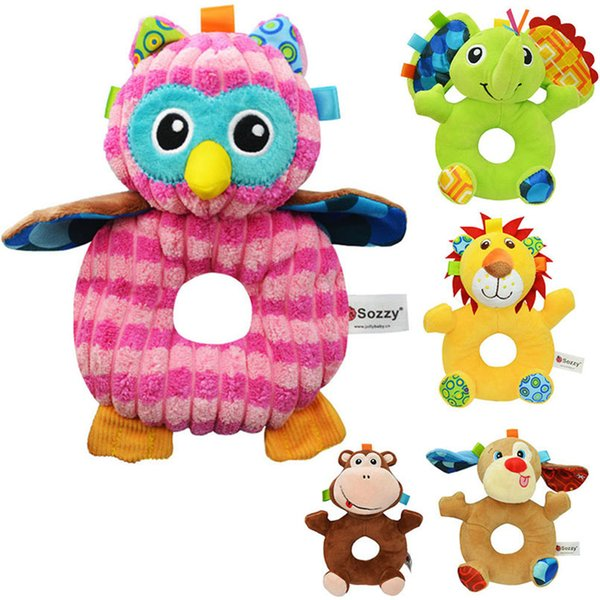 aby Rattles & Mobiles Soft Infant Baby Stuffed Plush Toy Wrist Rattle Cartoon Crib Stroller Handbells Newborn Appease Early Learning ...