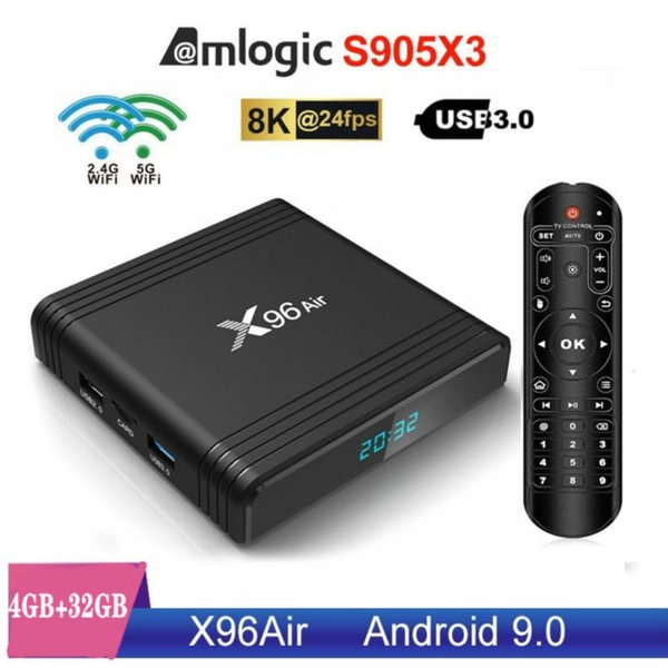 X96 Air,4+32GB,Dual Wifi 2.4G+5G,With BT